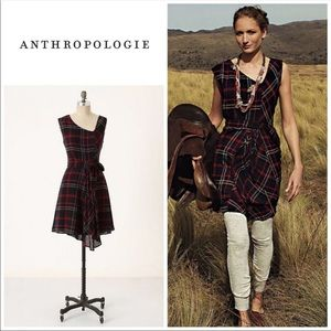 Anthropologie Plaid Flannel Perthshire Dress